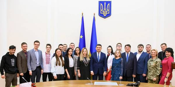 The youth must be involved more actively in the development of hromadas and the whole country, Volodymyr Groysman says