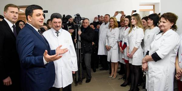 Volodymyr Groysman: Construction of hospitals and outpatient clinics is responsibility of local authorities