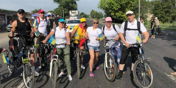 First in Dnipropetrovsk Oblast charity bicycle tour held in Mykolayivska AH