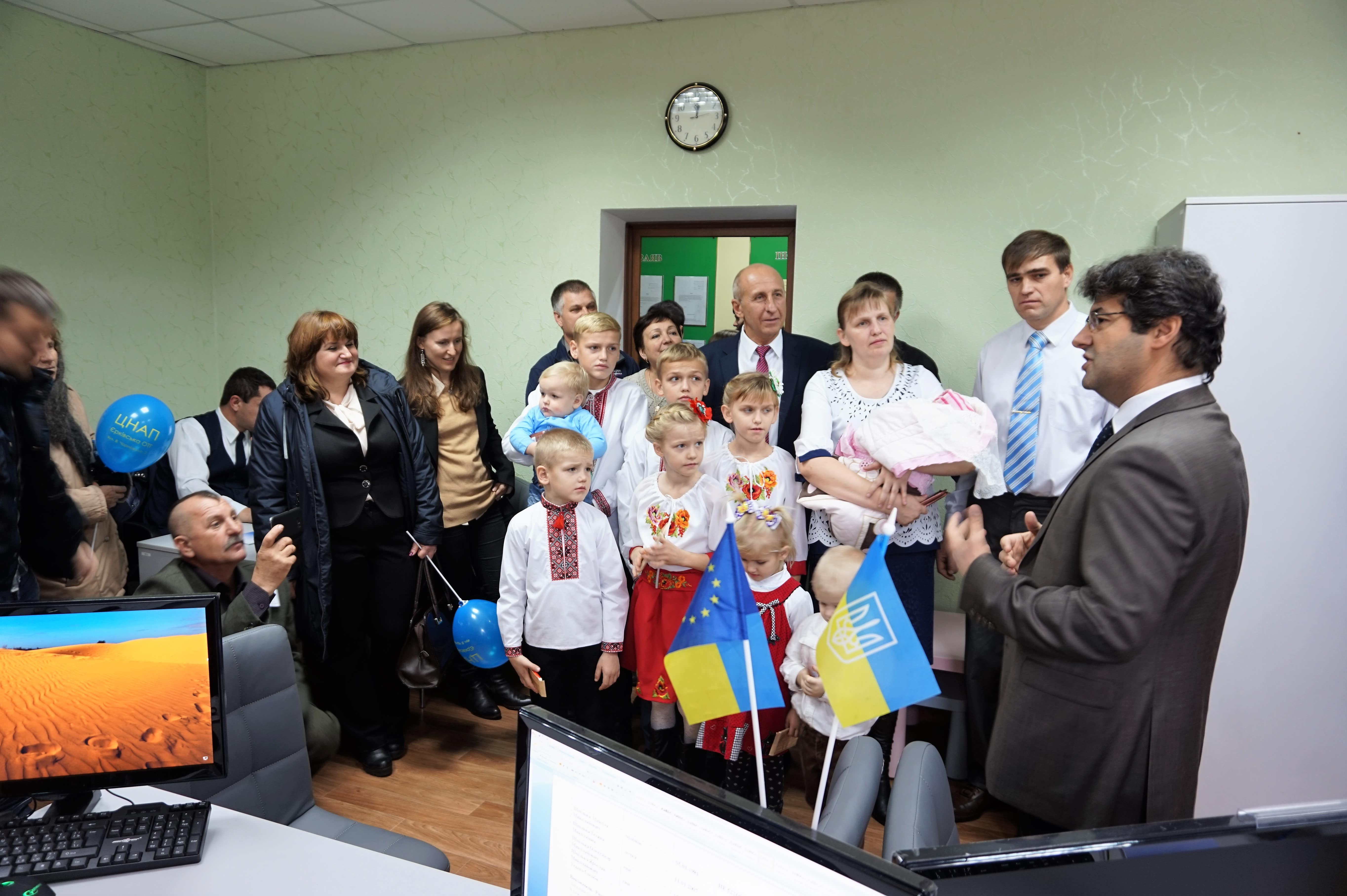 Administrative Services Centre Opened in Erky with support of U-LEAD with Europe