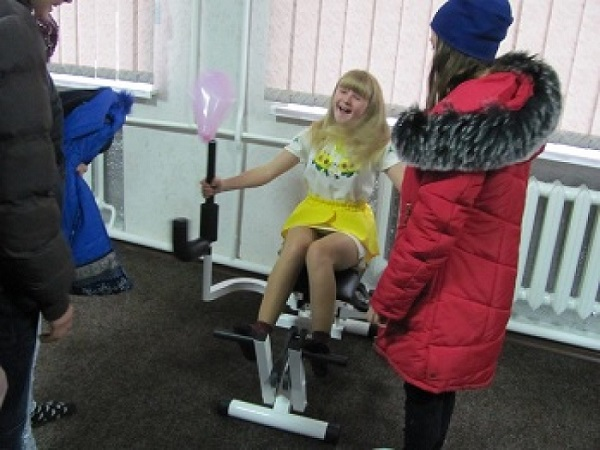 For children and adults: premises of former village council were converted into gym in the Radyvylivska AH