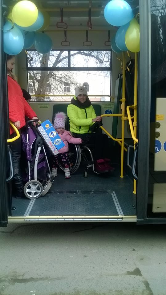 Vehicle fleet of Bilyayivska AH expanded by bus for transportation of people with reduced mobility
