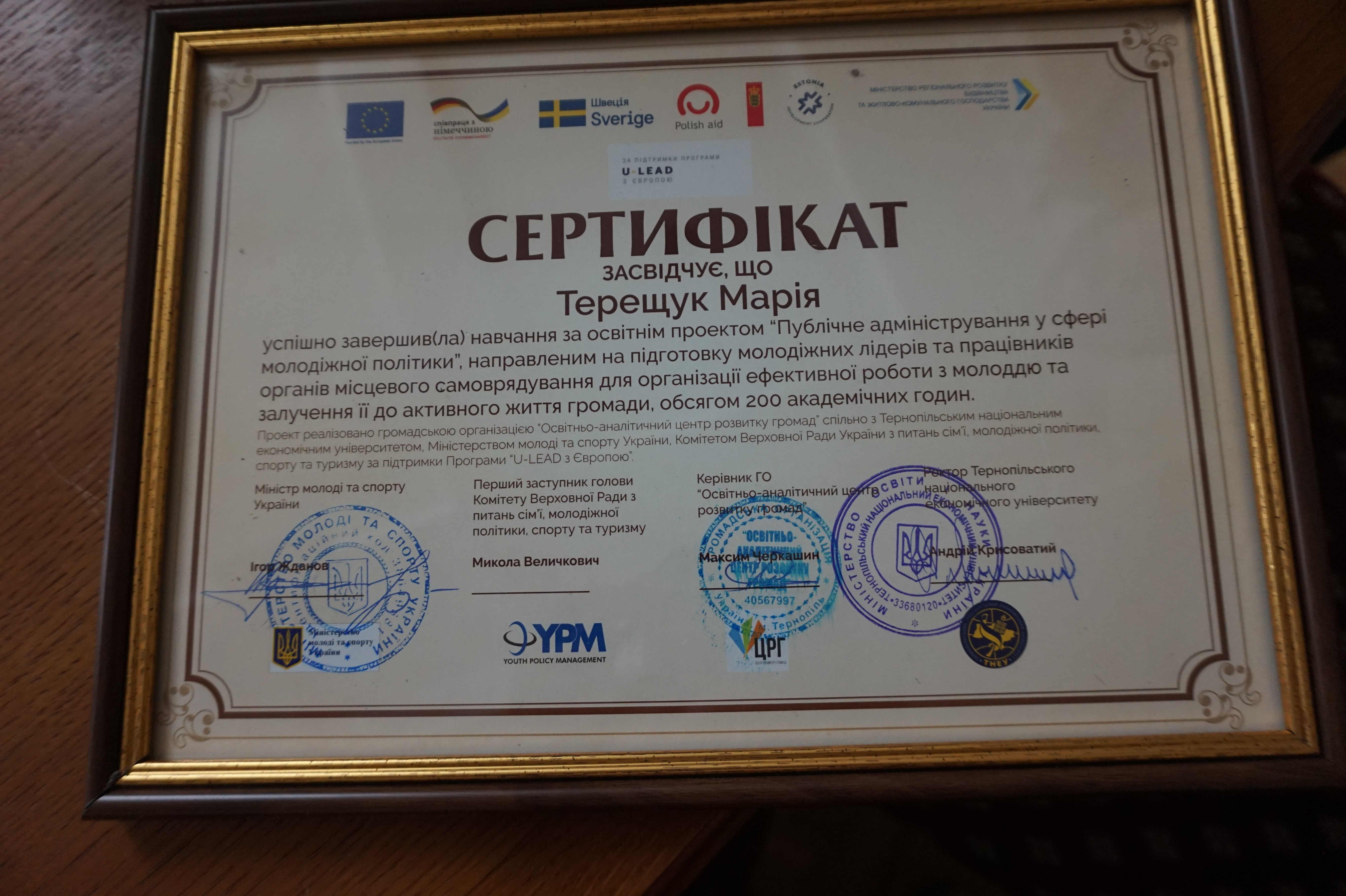 Unique educational youth policy project finished in Ternopil