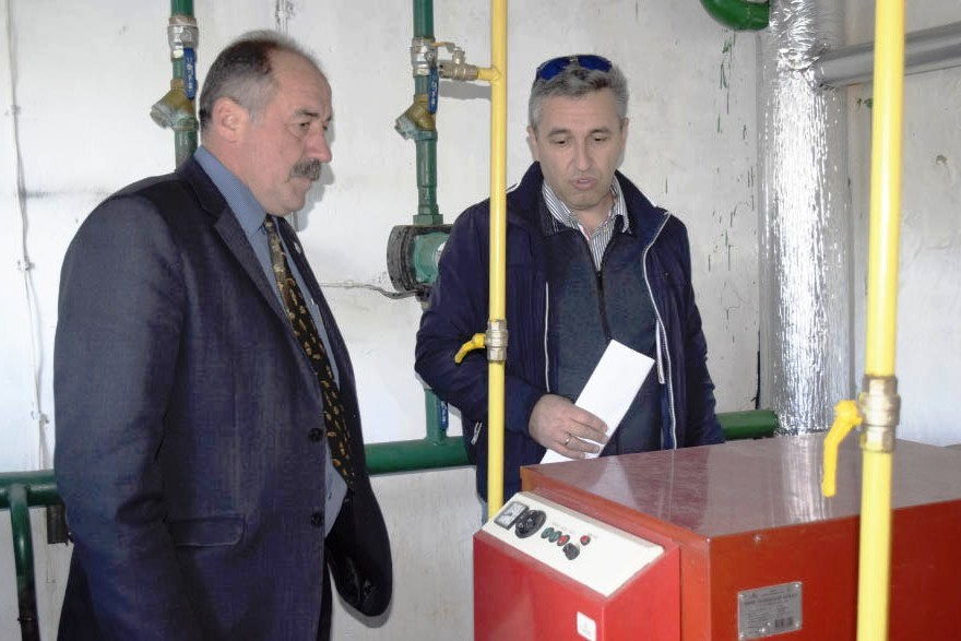 New energy efficient heating system is being set up in schools of Machukhivska AH