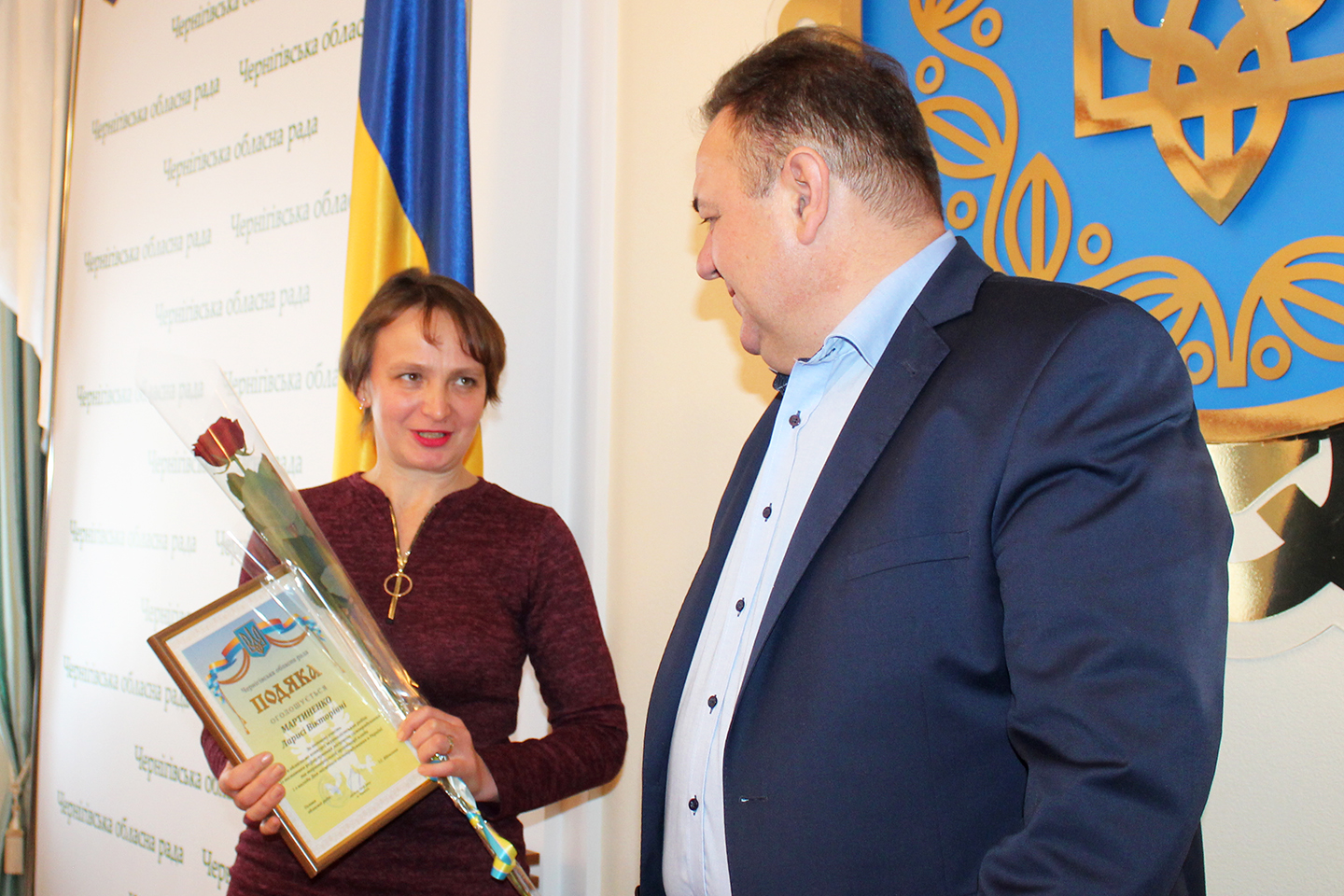 The winners of the first oblast contest for journalists reporting on local self-government are rewarded in Chernihiv region